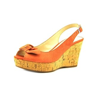 Franco Sarto Vassi Women Open Toe Leather Pink Wedge Sandal
