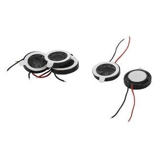 1Watt 8 Ohm 15mm Dia 2-Wired Magnet Speaker MP3 MP4 Phone Loudspeaker 5 PCS