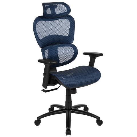 Ergonomic Mesh Office Chair with Synchro-Tilt, Headrest, Adjustable Pivot Arms