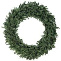 "48"" Canadian Pine Artificial Christmas Wreath - Unlit - green"