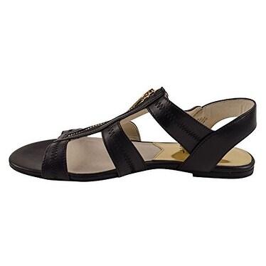 MICHAEL Michael Kors Womens BERKLEY FLAT Leather Open Toe Casual Gladiator Sa...