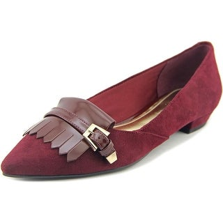 Marc Fisher Talley Women Pointed Toe Suede Burgundy Flats