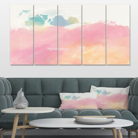 Designart 'Pink Dream' Modern & Contemporary Premium Canvas Wall Art
