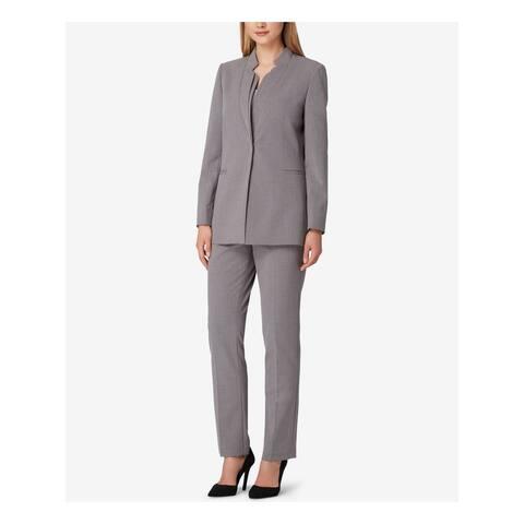 TAHARI Gray Blazer Straight leg Pant Suit 18