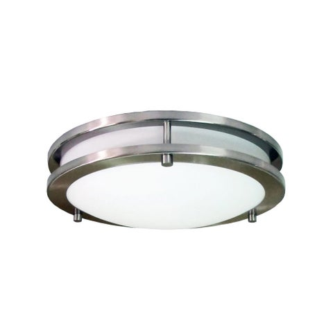 HomeSelects International 6106 Saturn 3 Light Flush Mount Ceiling Fixture - Brushed nickel