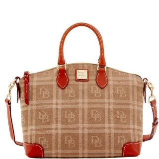 Dooney & Bourke DB Plaid Jacquard Satchel (Introduced by Dooney & Bourke at $228 in Jul 2016) - Tan