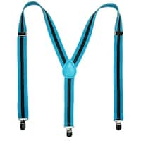 CTM® Men's Elastic Striped Clip-End Suspenders - one size