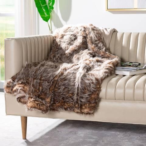 SAFAVIEH Dusty Faux Fur Throw