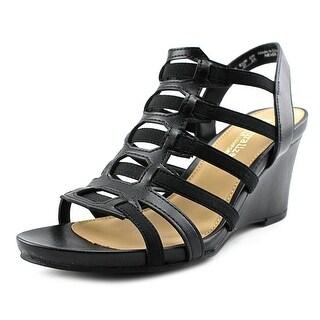 Naturalizer Never Women Open Toe Canvas Black Sandals