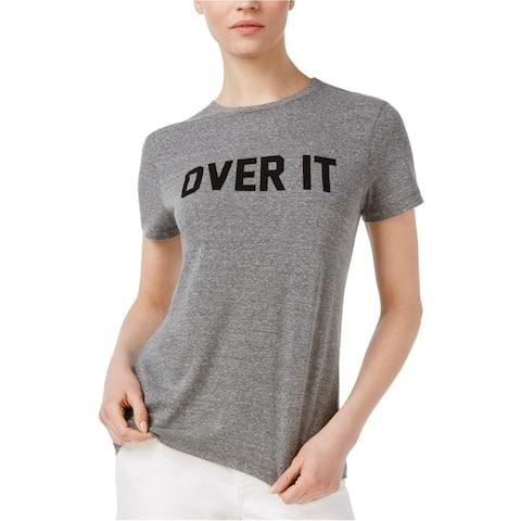 Rachel Roy Womens Over It Graphic T-Shirt