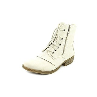 American Rag Bunkker Women Round Toe Synthetic Ivory Boot