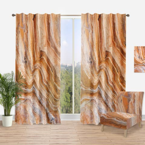 Designart 'Marbled Detail of Colourful Rock' Traditional Curtain Panel