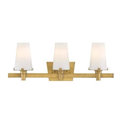 "Designers Fountain 87903 Hyde Park 3 Light 24"" Wide Bathroom Vanity Light with Seedy Glass Shade"