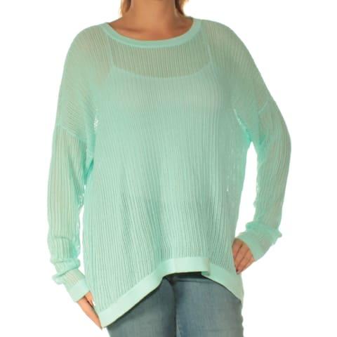 Ralph Lauren Womens Aqua Dolman Sleeve Jewel Neck Top Size: L