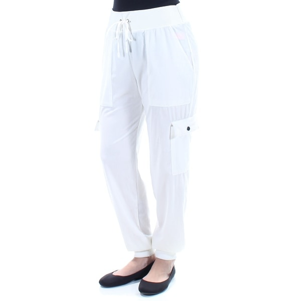 GUESS Womens New 1501 Ivory Tie Casual Pants M. Opens flyout.