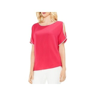 Vince Camuto Womens Blouse Crepe Cold Shoulder