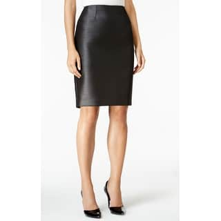 Kasper NEW Black Womens Size 6 Solid Jacquard Straight Pencil Skirt|https://ak1.ostkcdn.com/images/products/is/images/direct/2da93f37df5c93128857e3f242a400adce2fc923/Kasper-NEW-Black-Womens-Size-6-Solid-Jacquard-Straight-Pencil-Skirt.jpg?impolicy=medium