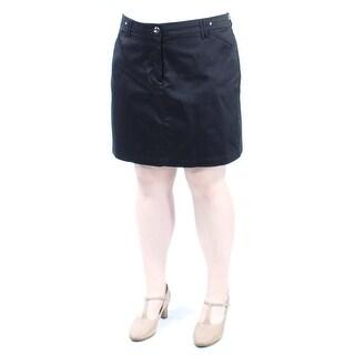 CHARTER CLUB $41 Womens New 1427 Black Casual Skort 10 B+B
