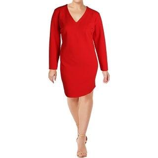 Rachel Rachel Roy Womens Plus Wear to Work Dress Long Sleeeves Above Knee - 18W