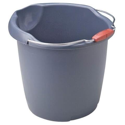 Newell Rubbermaid 296900AQUAM/BBF Utility Bucket, 15 Quart, Blue Mist