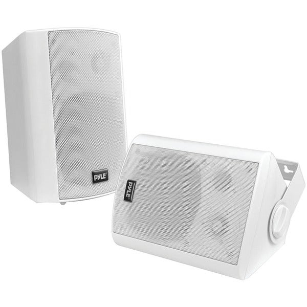 "PYLE HOME PDWR61BTWT 6.5"" Indoor/Outdoor Wall-Mount Bluetooth(R) Speaker System (White)"