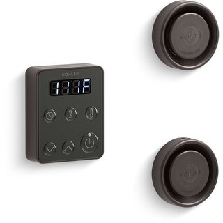 Kohler K-5558 Invigoration Tandem Steam Control Kit with Fast-Response, Power Clean, Digital Clock, and Two Steam Heads with