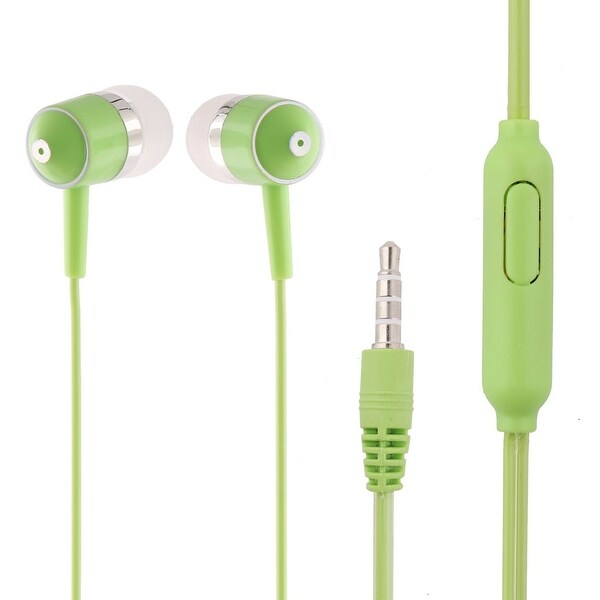 Office 3.5mm Premium Stereo Sound Earphone Headphone Green for MP3 MP4 PMP
