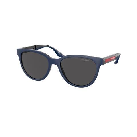 Prada Linea Rossa PS 05XS 02S06F 54 Navy Rubber/black Man Oval Sunglasses