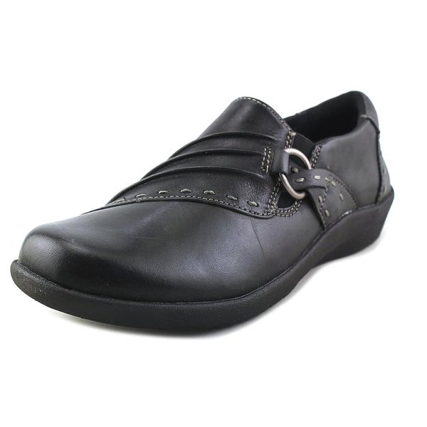 Earth Origins Lacey Women Round Toe Leather Black Loafer