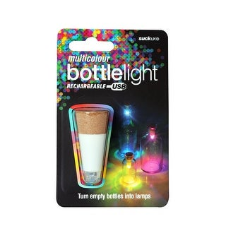 Multicolor Bottle Light USB Rechargeable