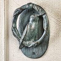 SPI Home Hummingbird Door Knocker - Verdigris Finished Cast Aluminum - gray