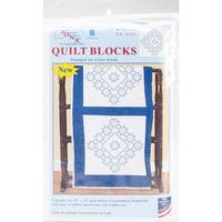 "Stamped White Quilt Blocks 18""X18"" 6/Pkg-Xx Star"
