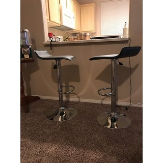 Vogue Furniture Direct Adjustable Height Swivel Barstools with Footrest (Set of 2)