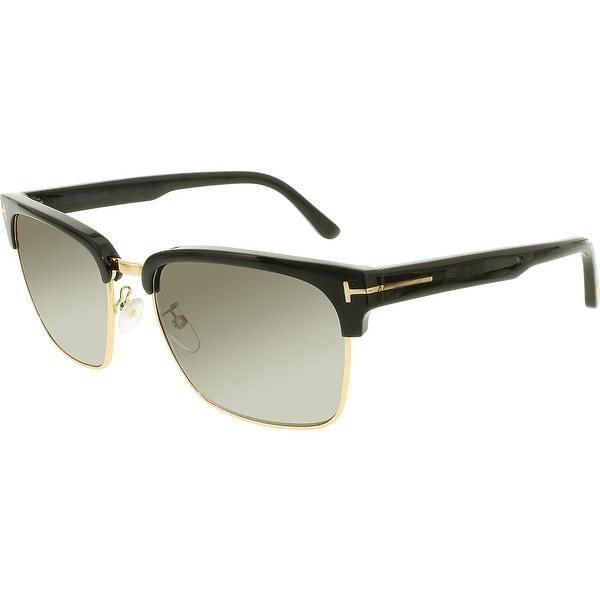 5d45d3b835 Shop Tom Ford Men s Polarized FT0367-01D-57 Black Square Sunglasses ...