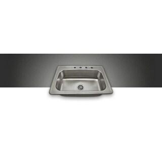 Polaris pt0301us Single Bowl Topmount Stainless Steel Sink