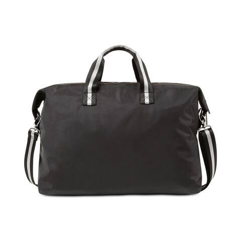 2(X)IST Men's Bag Black Weekender Duffle Zip Top STriped Handles