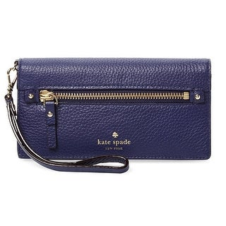 Kate Spade NEW Deep Indigo Blue Rae Cobble Hill Leather Clutch Wallet