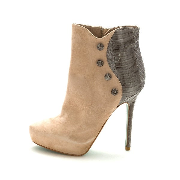 Lisa F. Pliner Womens CHANELI-02 Suede Pointed Toe Ankle Fashion Boots