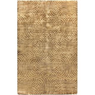 Hand-Knotted Rhonda Geometric Pattern Area Rug