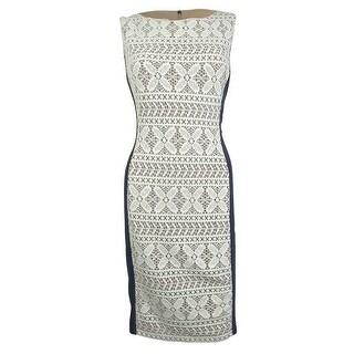 Anne Klein Women's Crochet Lace Jersey Sheath Dress - 12