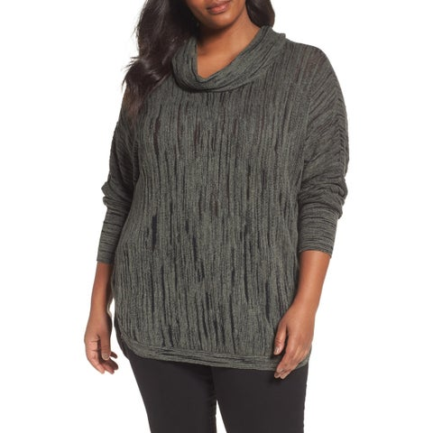 Nic + Zoe Women's Plus Cowl-Neck Pullover Knit Top