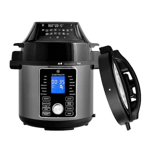 ChefWave Pressure Cooker and Air Fryer Swap Pot Multi Cooker (6 Qt)