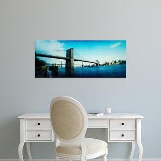 Easy Art Prints Panoramic Images's 'Brooklyn Bridge, East River, Brooklyn, New York City, New York State' Canvas Art