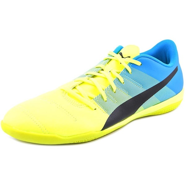 Puma EvoPower 4.3 IT Men  Round Toe Leather Yellow Sneakers