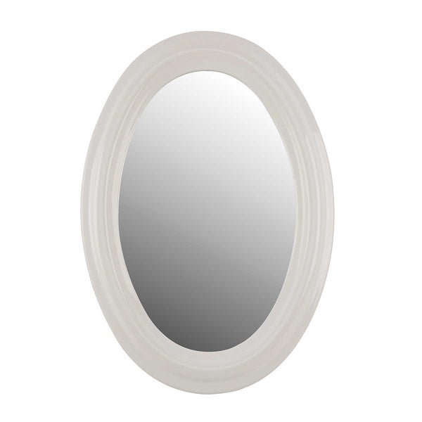 Bathroom Mirror White Porcelain Frame Oval | Renovator's Supply