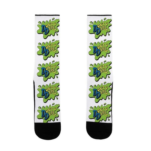 LookHUMAN Don't U Dare 90s Parody US Size 7-13 Socks
