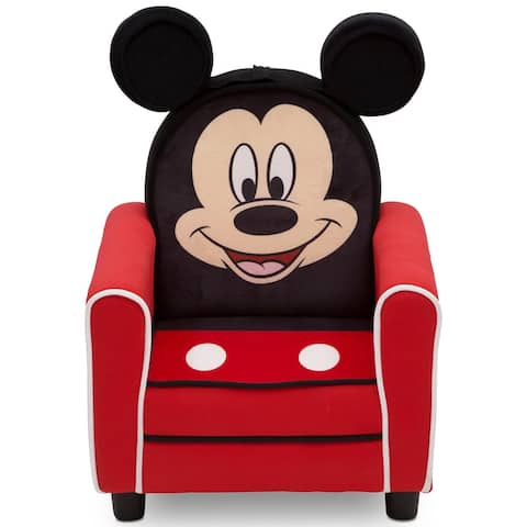 Disney Mickey Mouse Figural Upholstered Kids Chair by Delta Children