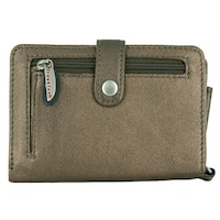 Travelon Leather Wallet/Wristlet in One (Bronze)