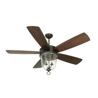 "Craftmade Fredericksburg 60"" 5 Blade Outdoor Ceiling Fan - Blades, Remote and Light Kit Included"