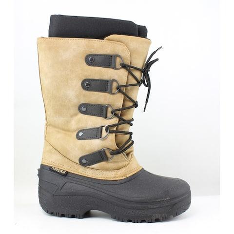 Tundra Womens Tatiana Black/Tan Snow Boots Size 7